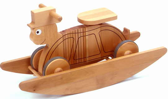 ride on wooden rocking turtle